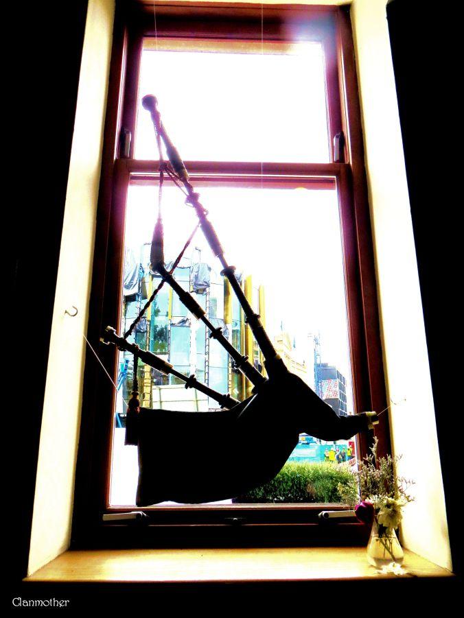 Bagpipe in a Window