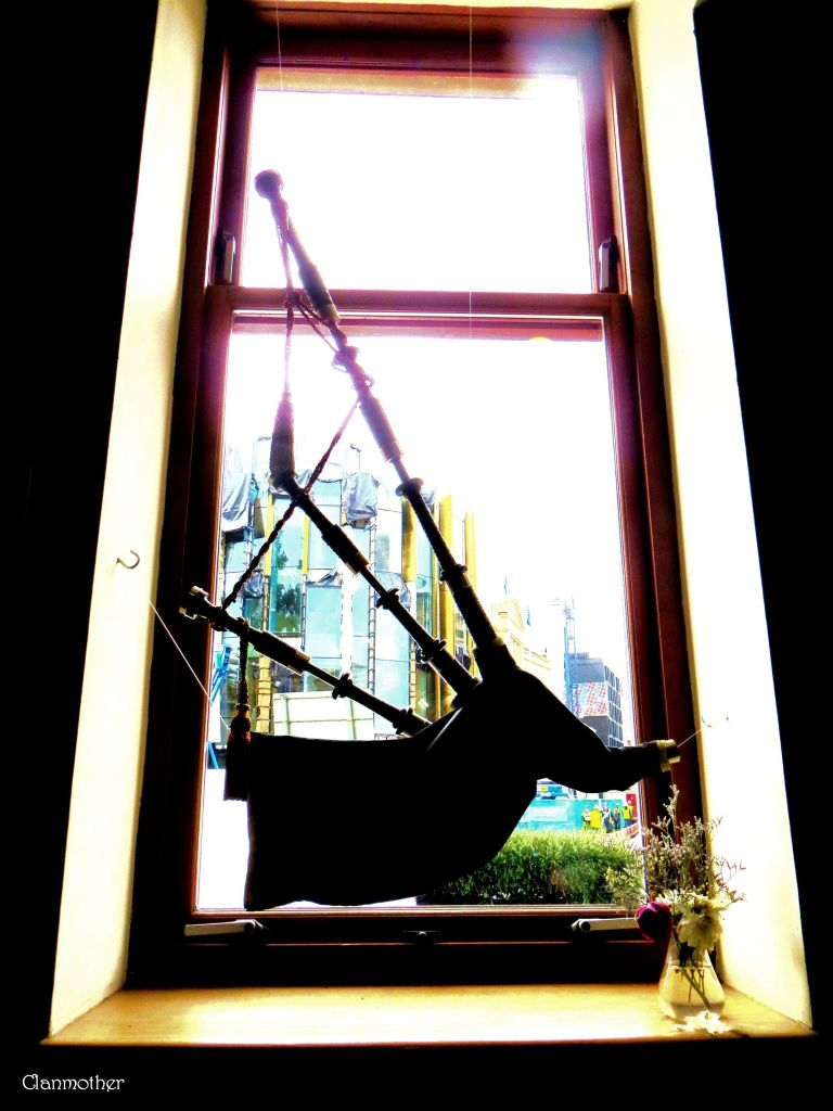 Bagpipe in a Window