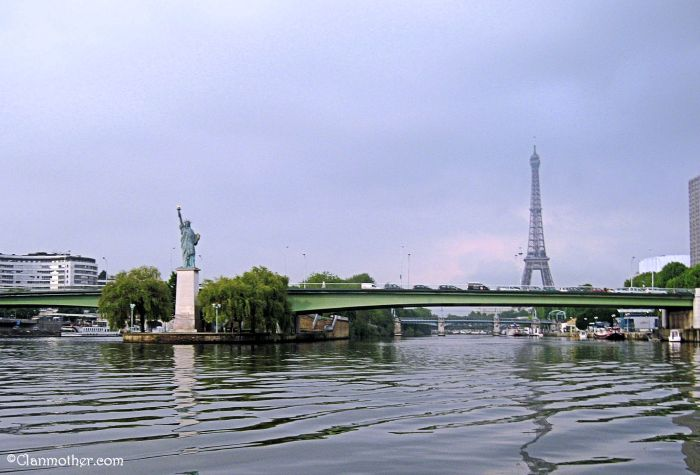 The Eiffel Tower and Statue of Liberty