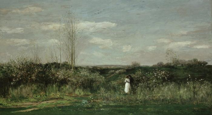 Charles Francois Daubigny: Spring Landscape