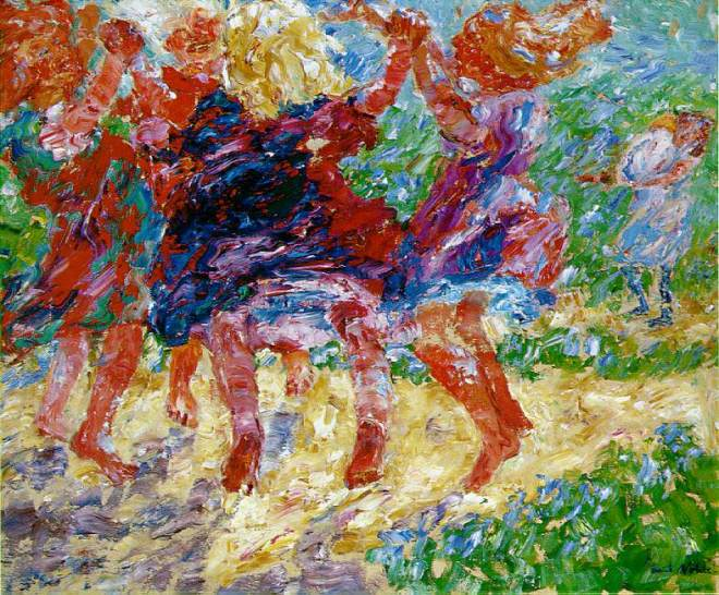 Emil Nolde - 1909 - Wildly Dancing Children
