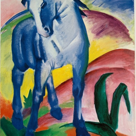 Franz Marc's painting Blue Horse, 1911 Oil on Canvas