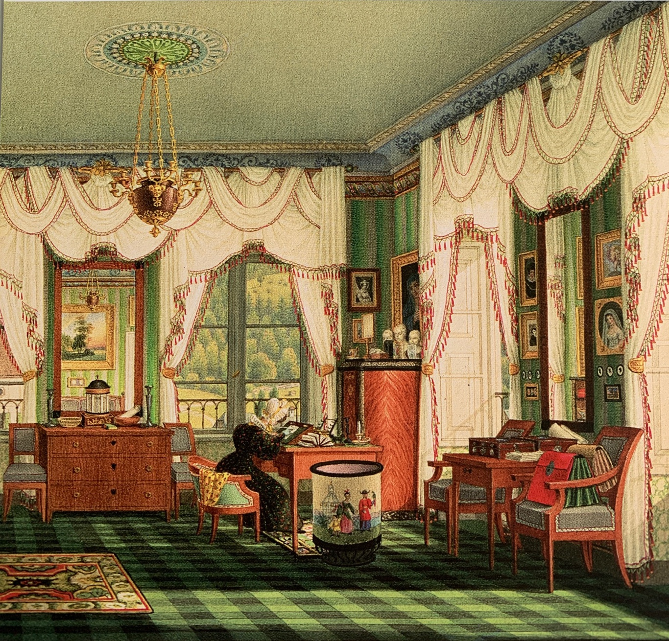 #Friday Painting: The Bedroom of Elizabeth of Bavaria by Franz Xavier Nachtmann