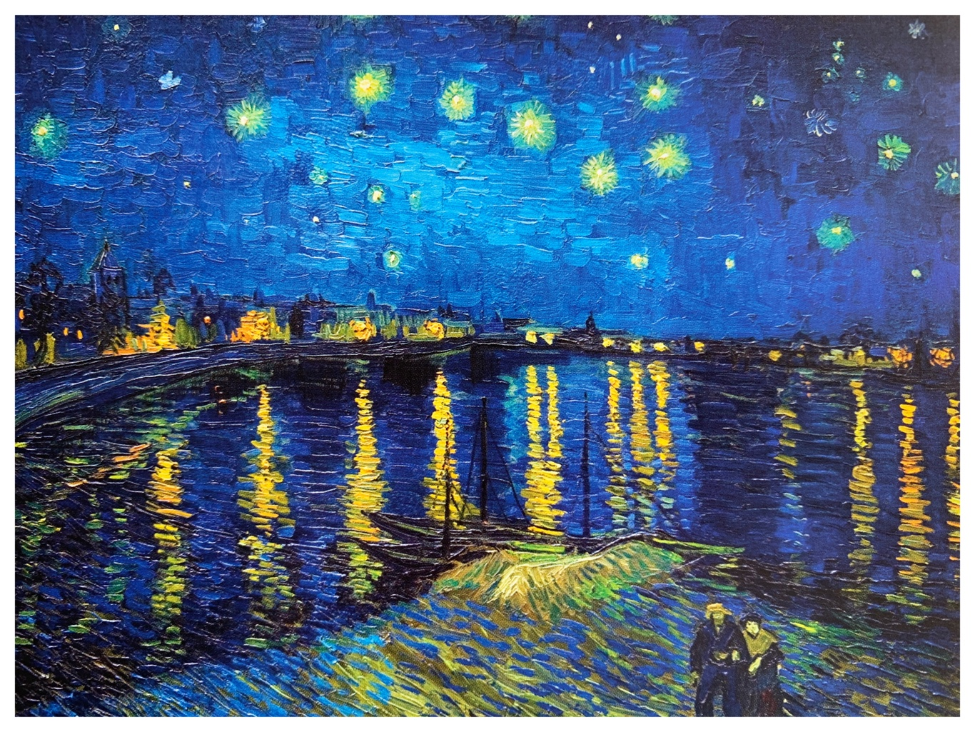 "#FridayPainting: Vincent Van Gogh ""Starry Night over the Rhône"""